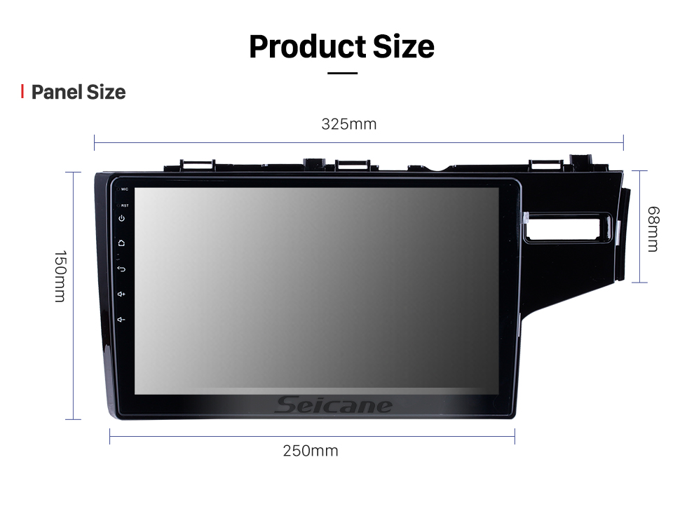 Seicane 10.1 Inch Android 10.0 1024*600 2014 2015 HONDA JAZZ/FIT (RHD) Radio Bluetooth Touch Screen GPS Navigation Car Stereo Mirror Link Steering Wheel Control 1080P DAB+