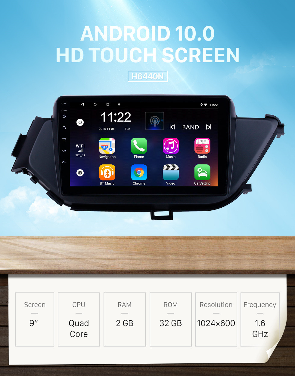 Seicane HD Touchscreen 9 inch Android 10.0 GPS Navigation Radio for 2015-2018 Nissan Bluebird with Bluetooth support Carplay DAB+ DVR