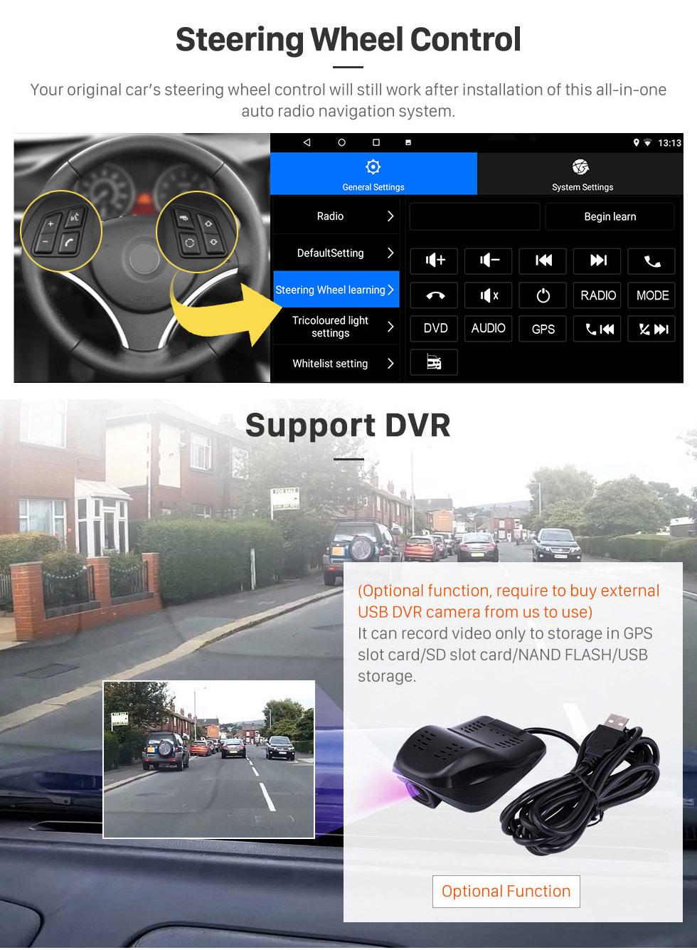 Seicane 10,1-дюймовый Android 10.0 GPS навигационное радио для 2017-2019 Nissan Kicks с HD сенсорным экраном Поддержка Bluetooth Carplay TPMS
