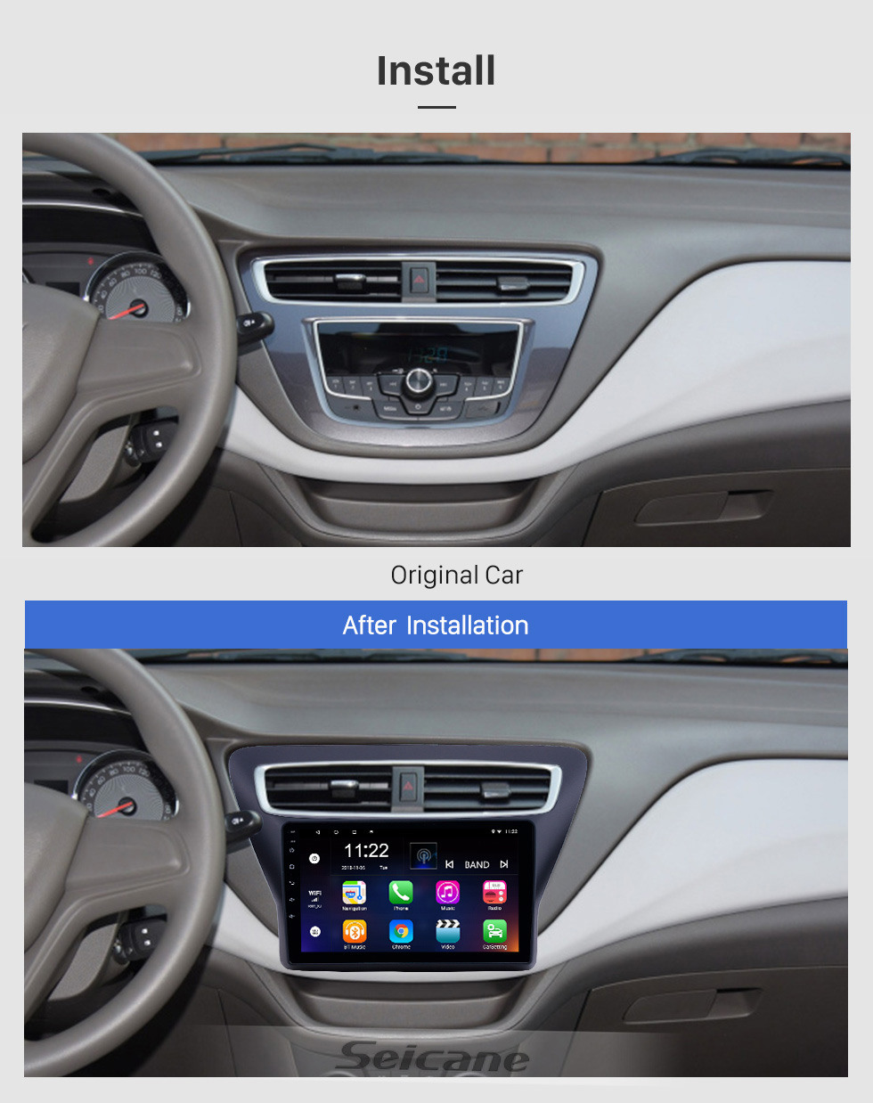 Seicane 2016-2018 Chevy Chevrolet Lova RV Android 10.0 HD Touchscreen 9 inch GPS Navigation Radio with Bluetooth support Carplay SWC