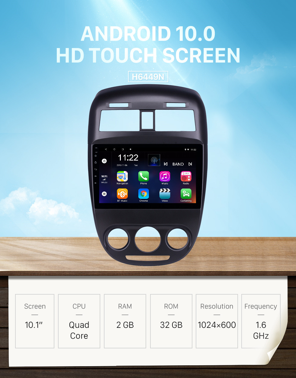 Seicane 10.1 inch HD Touchscreen Android 10.0 GPS Navigation Radio for 2008-2018 Buick Excelle With Bluetooth support Carplay DVR