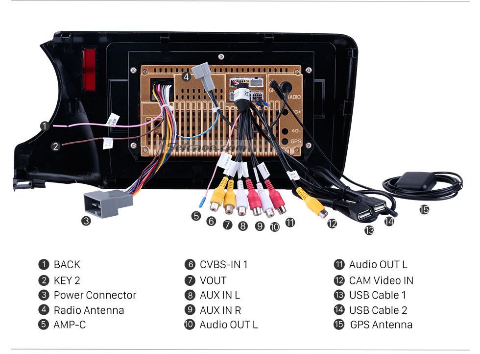 Seicane 10.1 polegada 1024 * 600 Ecrã Tátil Android 10.0 2014 2015 2016 2017 HONDA CIDADE RHD Rádio com 3G WIFI Música Bluetooth Câmera de Backup de TV Digital de Controle de Volante USB OBD2 TPMS