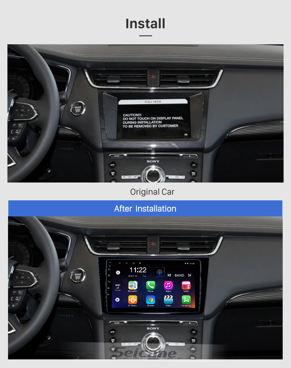 Seicane HD Touchscreen 9 inch Android 10.0 GPS Navigation Radio for 2015-2018 Ford Taurus with Bluetooth AUX WIFI support Carplay TPMS DAB+