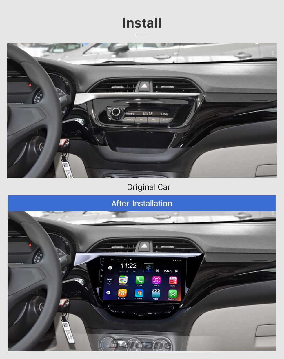 Seicane OEM 9 inch Android 10.0 Radio for 2018-2019 Buick Excelle Bluetooth HD Touchscreen GPS Navigation support Carplay OBD2 TPMS