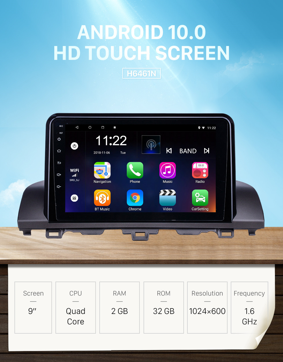 Seicane HD Touchscreen 9 inch Android 10.0 GPS Navigation Radio for 2018-2019 Honda Accord 10 with Bluetooth support Carplay TPMS DAB+