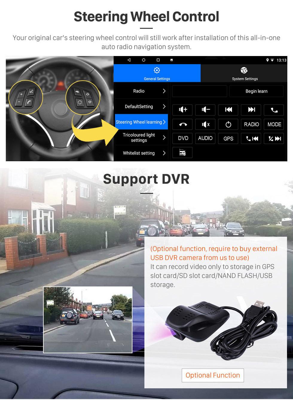 Seicane 10,1-дюймовый GPS-навигация Радио Android 10.0 для 2008-2013 Honda City Auto A / C с HD сенсорным экраном Поддержка Bluetooth Carplay Резервная камера