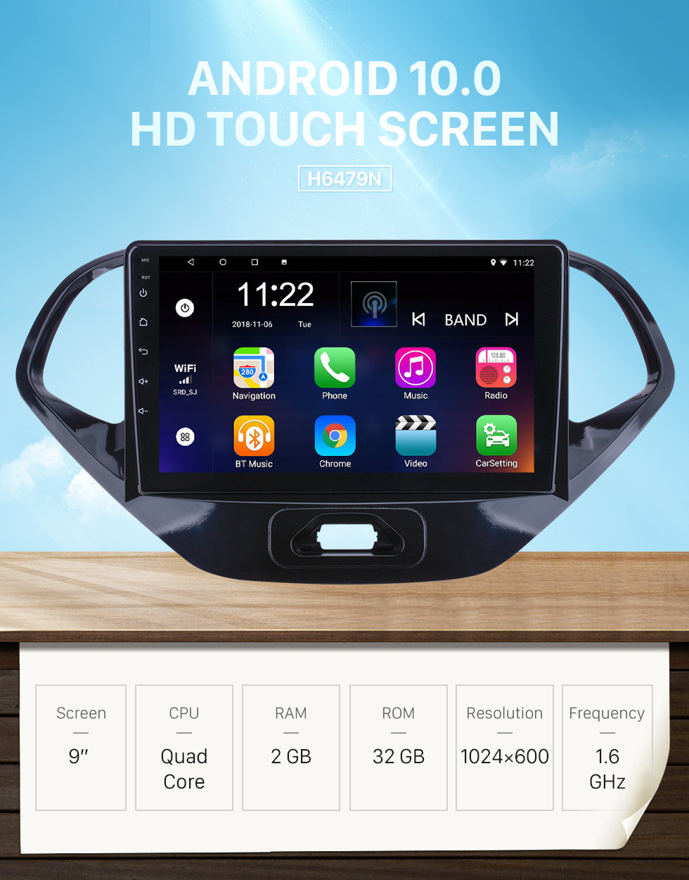 Seicane OEM 9 inch Android 10.0 for 2015 2016 2017 2018 Ford Figo Radio Bluetooth HD Touchscreen GPS Navigation support Carplay Digital TV