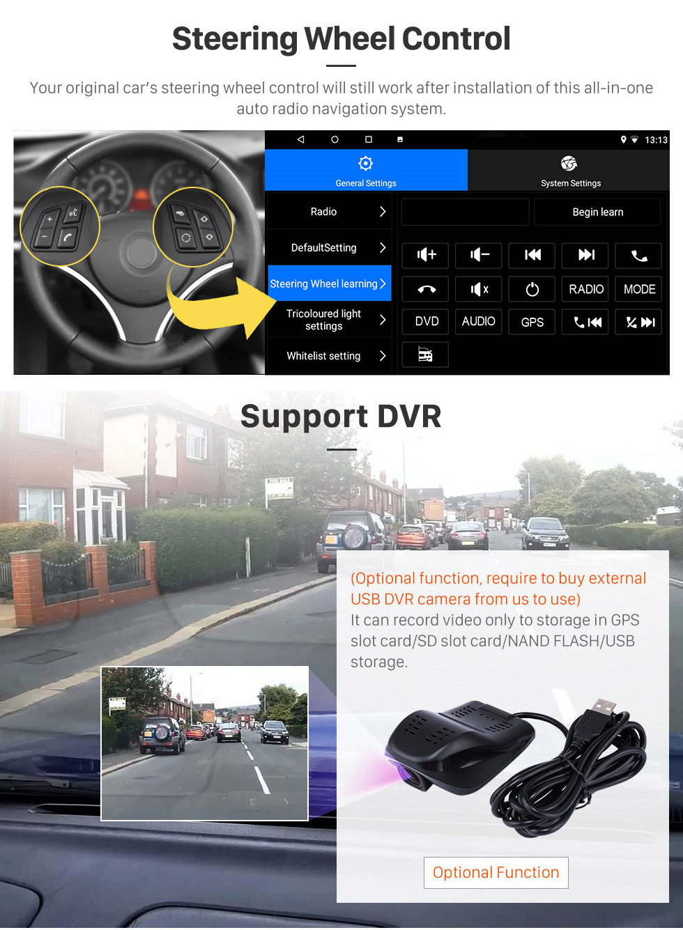 Seicane For 2019 Renault Triber Radio Android 10.0 HD Touchscreen 9 inch GPS Navigation with Bluetooth USB support Carplay SWC DVR