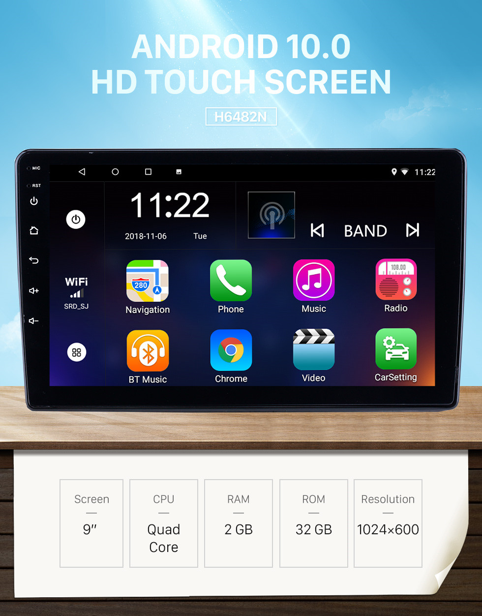 Seicane Android 10.0 9 inch for 2019-2020 Mitsubishi Triton Radio HD Touchscreen GPS Navigation with Bluetooth support Carplay DVR
