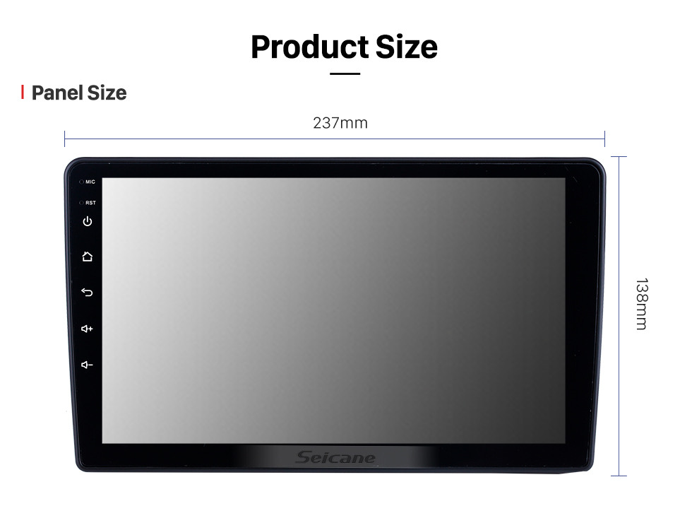 Seicane For 2010 2011 2012-2015 Nissan Navara Radio 9 inch Android 10.0 HD Touchscreen GPS Navigation with Bluetooth USB support Carplay SWC