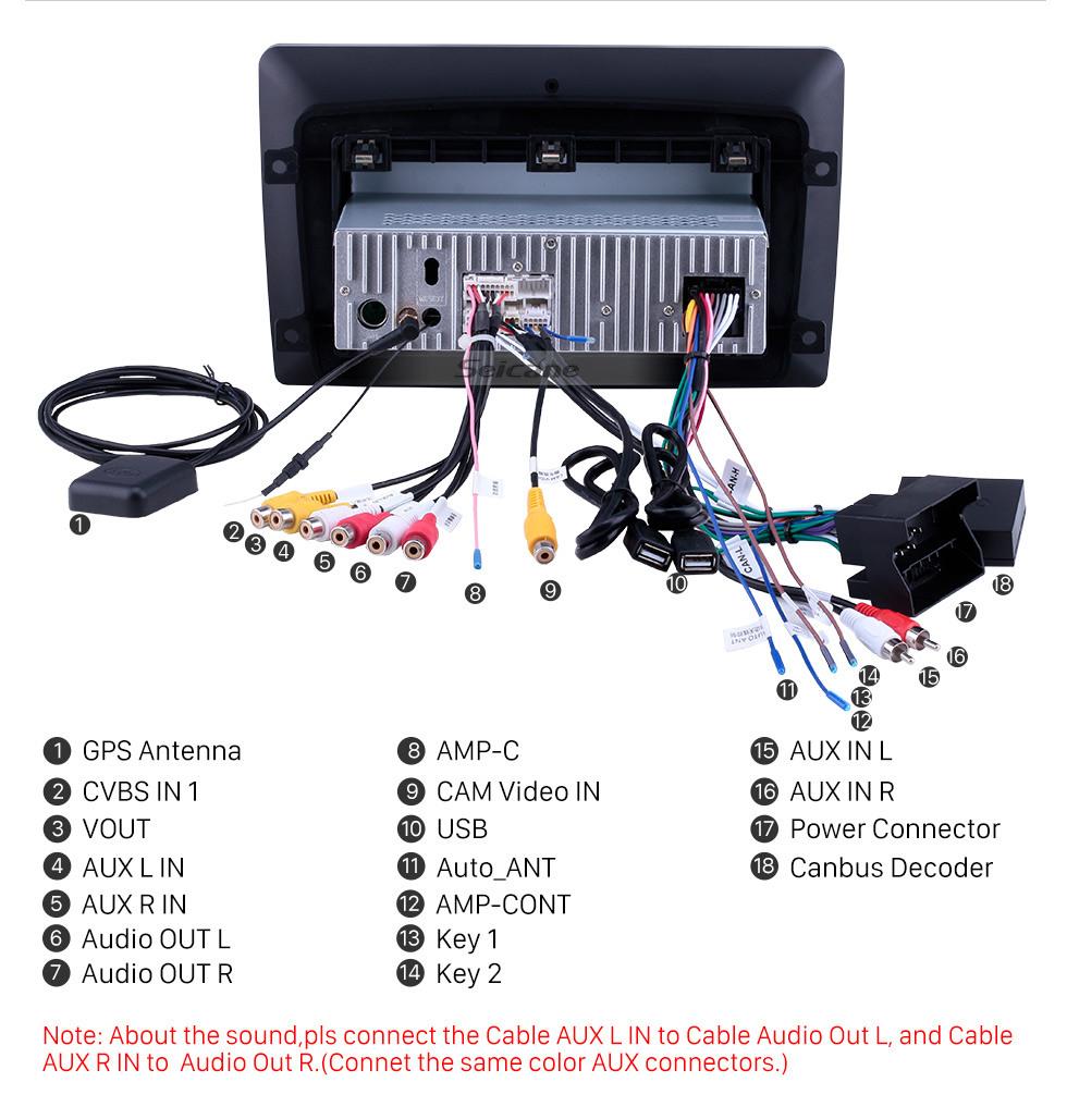 Seicane 10,1 pulgadas Android 10.0 para 2002 2003 2004 Mercedes Benz Clase C W203 Radio Navegación GPS con pantalla táctil HD Soporte Bluetooth Carplay DVR