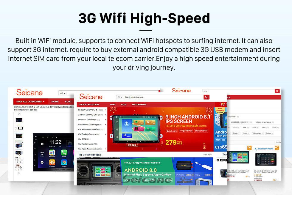 Seicane Para 2011 2012 2013 SsangYong Korando Radio Android 10.0 HD Pantalla táctil 9 pulgadas Navegación GPS con Bluetooth Soporte USB Carplay SWC