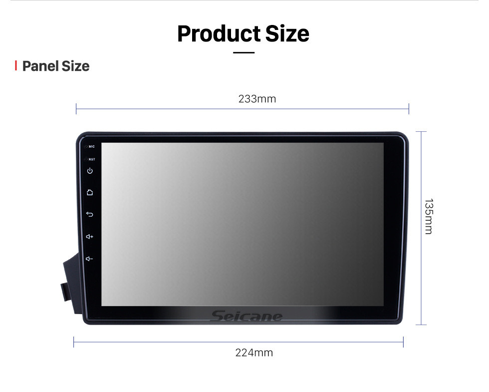 Seicane HD Touchscreen 9 inch for 2005 2006 2007-2011 SsangYong Actyon/Kyron Radio Android 10.0 GPS Navigation with Bluetooth support Carplay DAB+