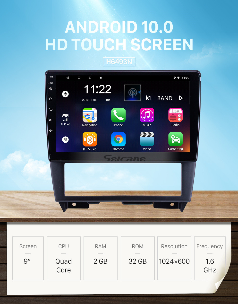 Seicane For 1994 1995 1996 1997 Nissan Cefiro(A32)Radio 9 inch Android 10.0 HD Touchscreen GPS Navigation with Bluetooth support Carplay SWC