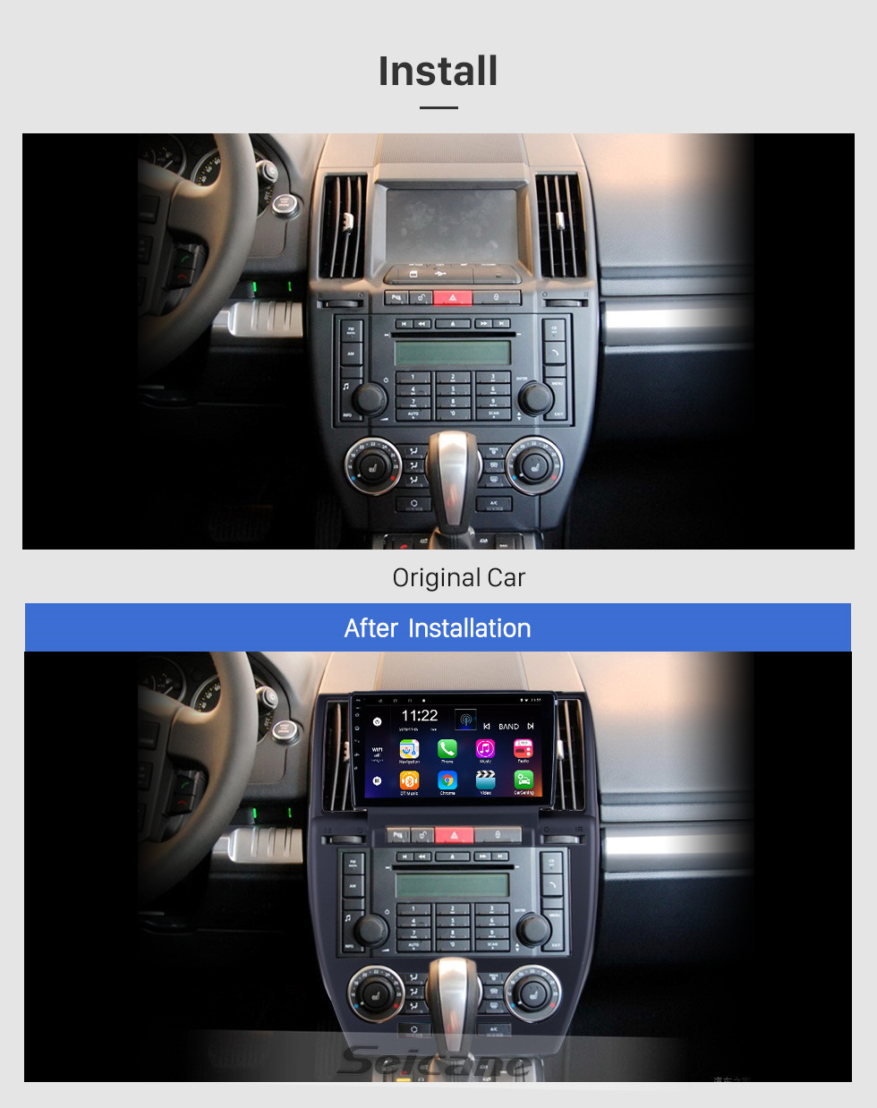 Seicane Android 10.0 9 inch for 2007 2008 2009-2012 Land Rover Freelander Radio HD Touchscreen GPS Navigation with Bluetooth support Carplay DVR