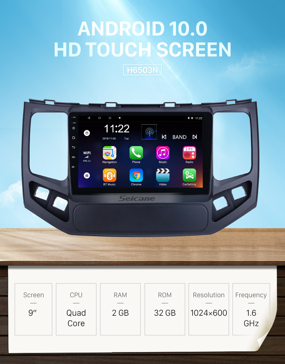 Seicane HD Touchscreen 9 inch for 2009 2010 Geely King Kong Radio Android 10.0 GPS Navigation System with Bluetooth support Carplay DAB+