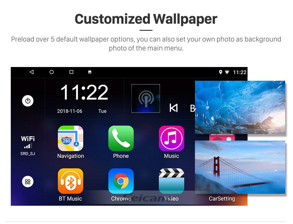 Seicane 9 pulgadas Android 10.0 2013 2014 2015 2016 2017 Ford Edge Radio Sistema de navegación GPS con pantalla táctil HD Bluetooth 3G WIFI compatible Cámara de reserva TPMS Control del volante Vínculo espejo OBD2 DVR