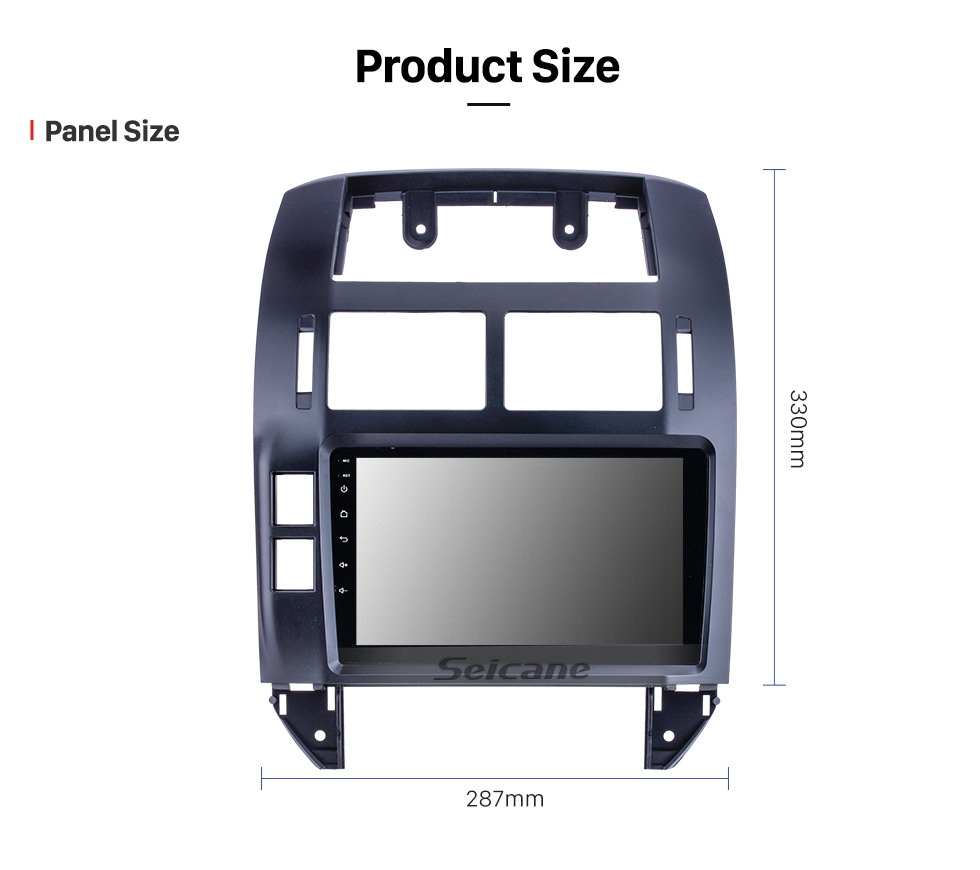 Seicane OEM 9 inch Android 10.0 for 2004 2005 2006-2011 VW Volkswagen Polo Radio Bluetooth HD Touchscreen GPS Navigation System support Carplay