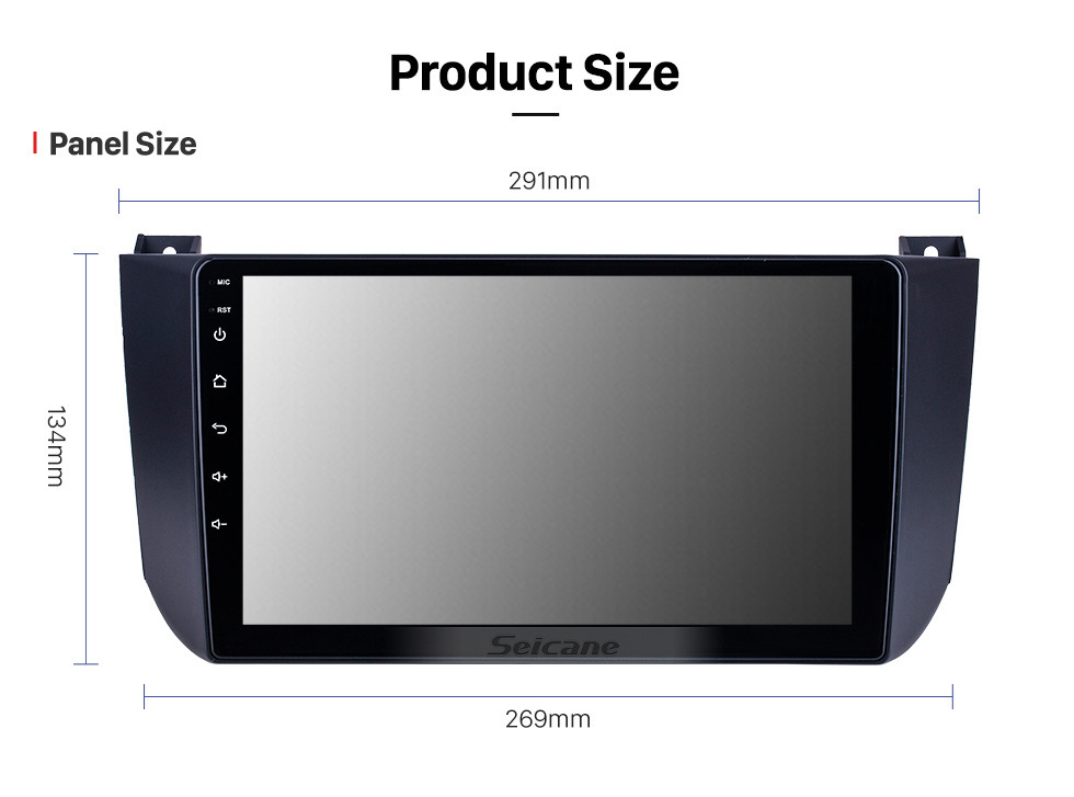Seicane HD Touchscreen 9 inch for 2009 2010 2011 2012 Changan Alsvin V5 Radio Android 10.0 GPS Navigation System with Bluetooth support Carplay DAB+