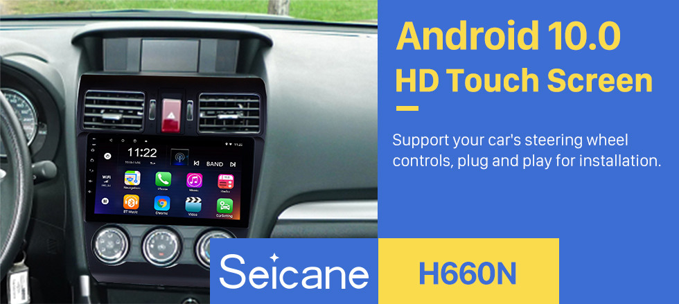 Seicane 9 Inch 1024*600 Touchscreen 2014 2015 2016 Subaru Forester Android 10.0 Radio GPS Navigation System Bluetooth Rearview camera 3G WIFI Mirror link Steering Wheel Control