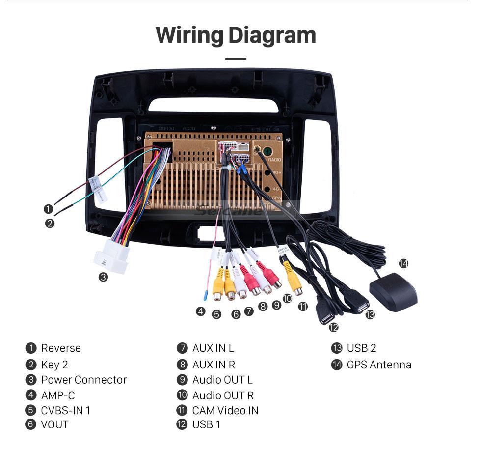 Seicane 9 pulgadas 2007-2011 Hyundai Elantra Android 10.0 Radio Sistema de navegación GPS con Mirror link Bluetooth OBD2 DVR TV digital TPMS Control del volante