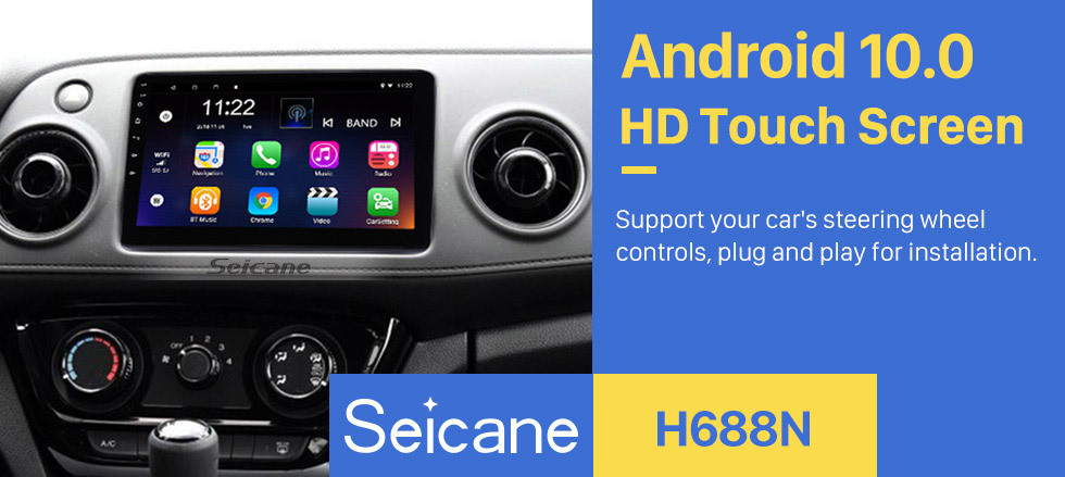 Seicane 10.1 Inch 2014-2016 Honda Vezel XRV Android 10.0 Touch Screen Radio GPS Navigation system Bluetooth AUX USB WiFi Steering Wheel Control Video TPMS DVR OBD II Rear camera