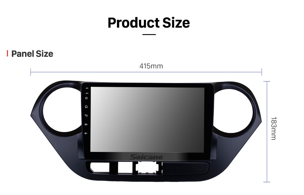 Seicane 9 inch Android 10.0 HD Touch Screen 2013-2016 HYUNDAI I10 Grand i10 RHD GPS Navigation Radio with USB Bluetooth support Rearview camera OBD2
