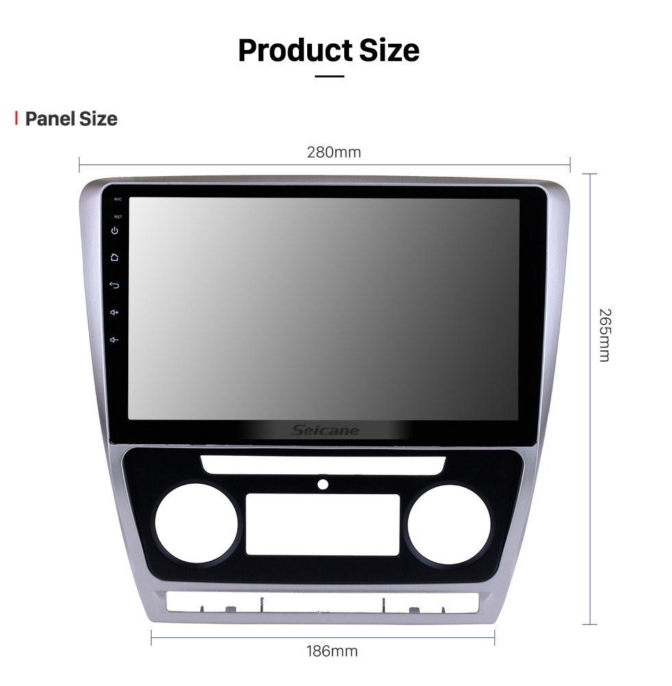 Seicane 10.1 pulgadas Android 10.0 HD Pantalla táctil 2007-2014 SKODA Octavia Radio GPS Bluetooth Unidad principal Vínculo espejo OBD2 TPMS DVR Cámara de visión trasera TV digital Control del volante 3G Wifi
