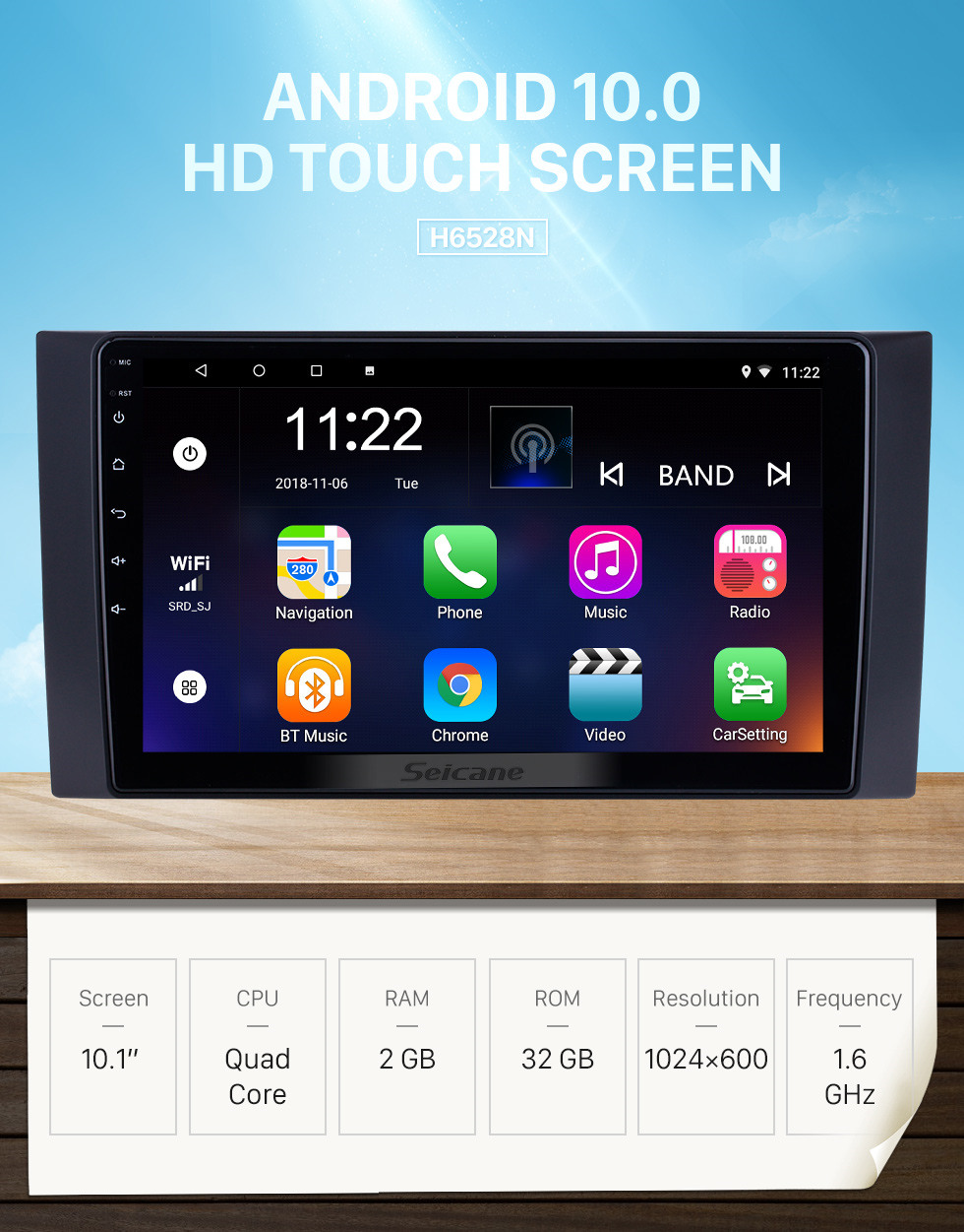 Seicane HD Touchscreen 10.1 inch for 2012 2013 2014-2017 Foton Tunland Radio Android 10.0 GPS Navigation System with Bluetooth support Carplay DAB+