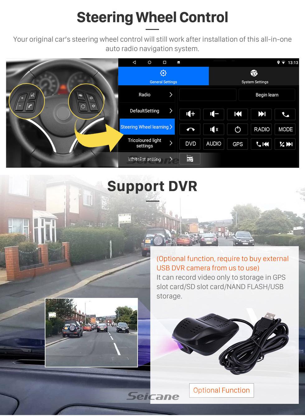 Seicane OEM 9 pouces Android 8.1 pour 2017 Great Wall Haval H2 (étiquette rouge) Radio Bluetooth HD à écran tactile GPS Navigation System Support Carplay DAB +