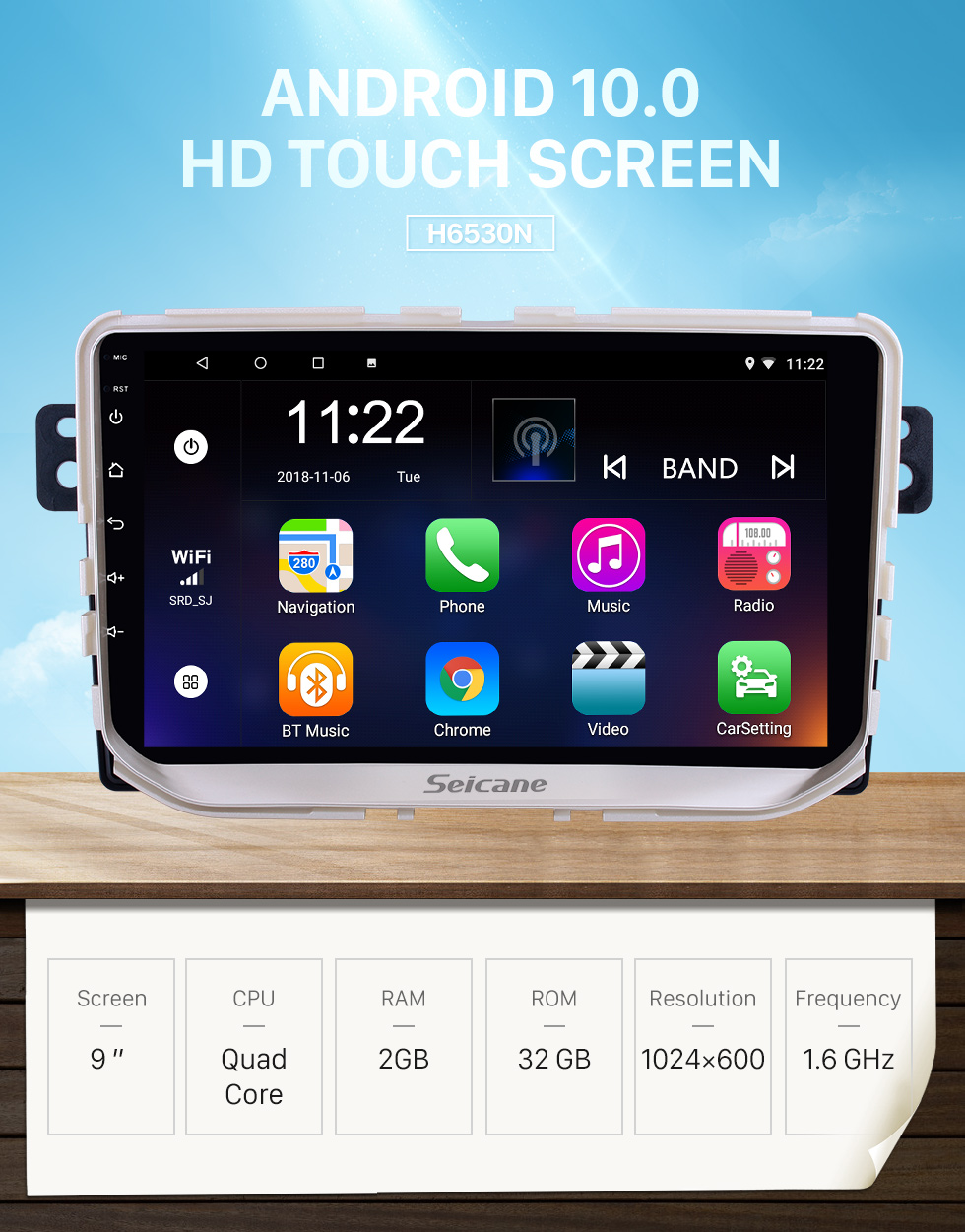 Seicane OEM 9 inch Android 10.0 for 2017 Great Wall Haval H2(Red label) Radio Bluetooth HD Touchscreen GPS Navigation System support Carplay DAB+