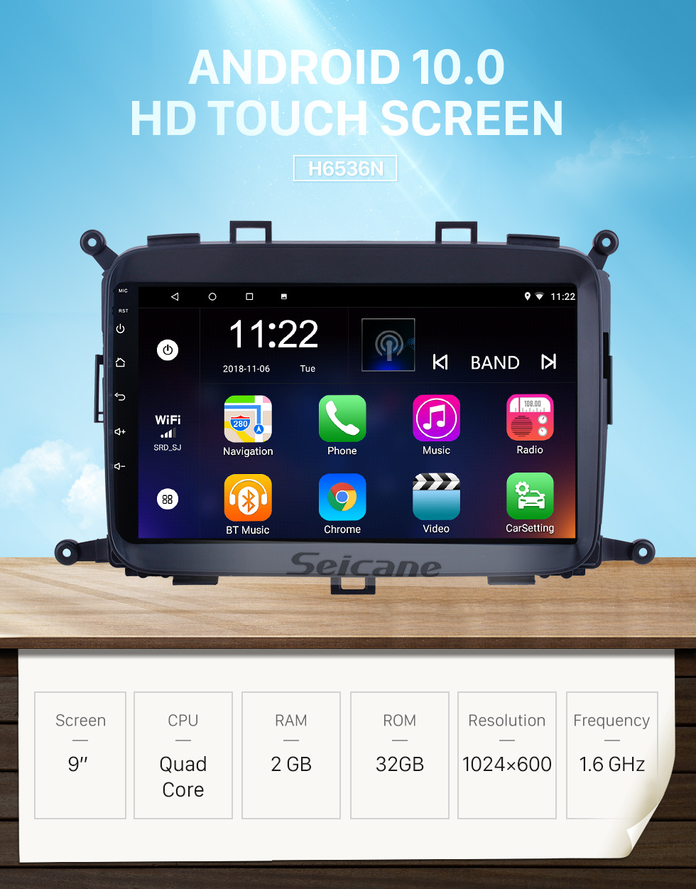 Seicane OEM 9 inch Android 10.0 for 2014 2015 2016 2017 Kia Carens Radio Bluetooth HD Touchscreen GPS Navigation System support Carplay DAB+ OBD2