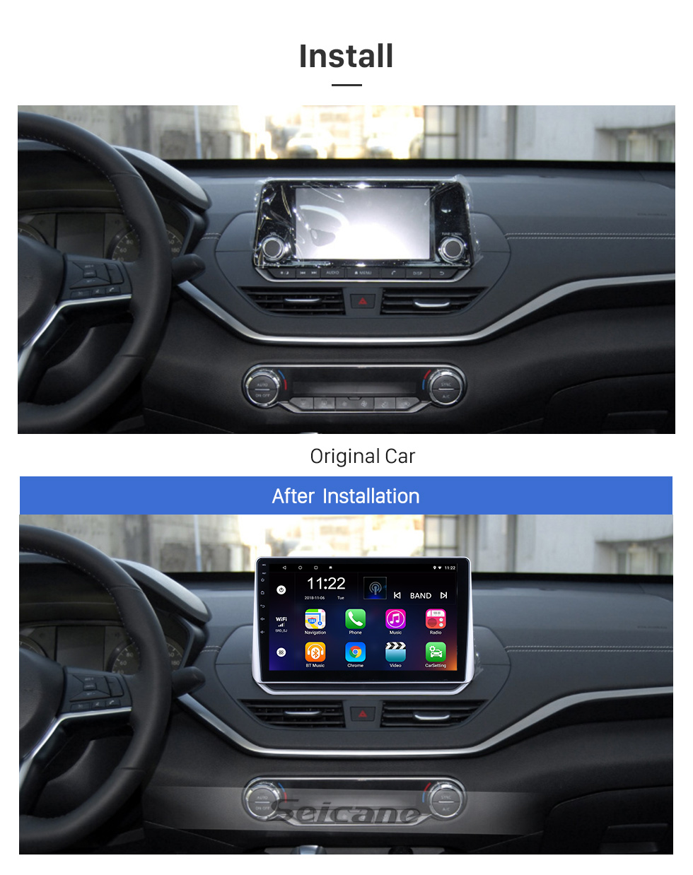 Seicane For 2019 Nissan Teana Radio 10.1 inch Android 10.0 HD Touchscreen GPS Navigation System with Bluetooth support Carplay OBD2
