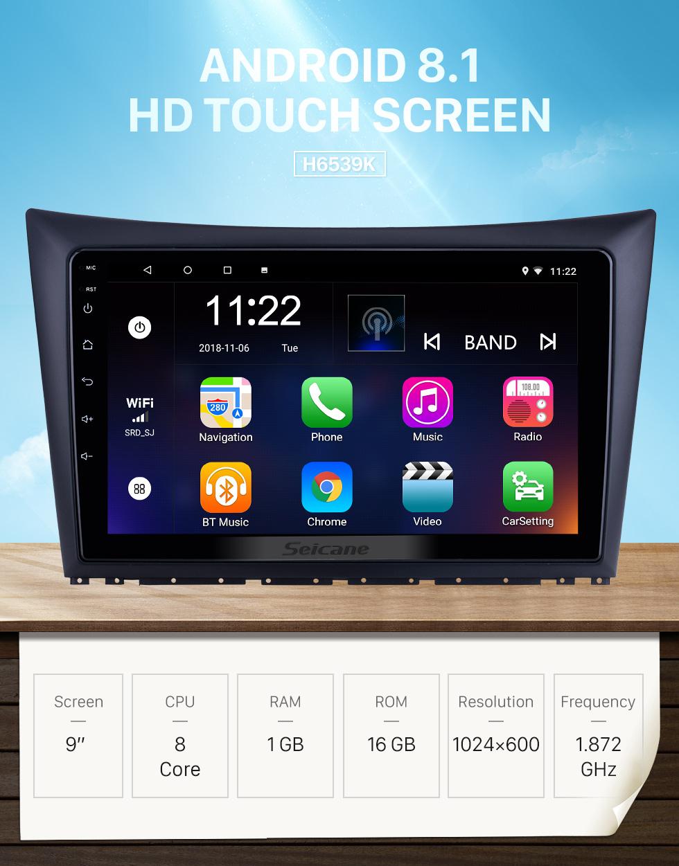 Seicane Pantalla táctil HD de 9 pulgadas para 2011 2012 2013 2014 Dong Feng Aeolus H30 Radio Android 8.1 Sistema de navegación GPS con soporte Bluetooth Carplay