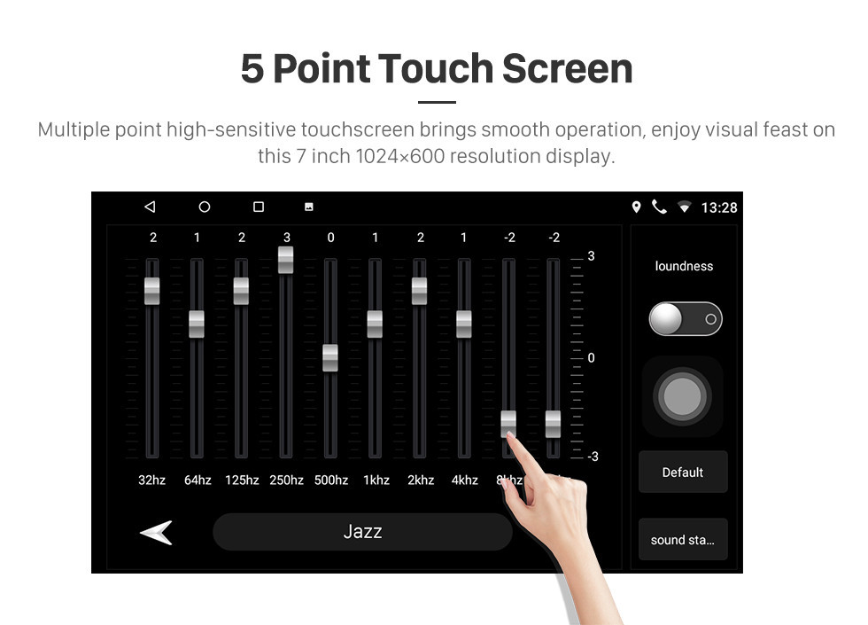 Seicane Android 10.0 7 Inch HD Touchscreen 2 Din Radio Head Unit For 2004-2010 Toyota Sienna GPS Navigation System Bluetooth Phone WIFI Support 1080P Video USB Steering Wheel Control Backup Camera