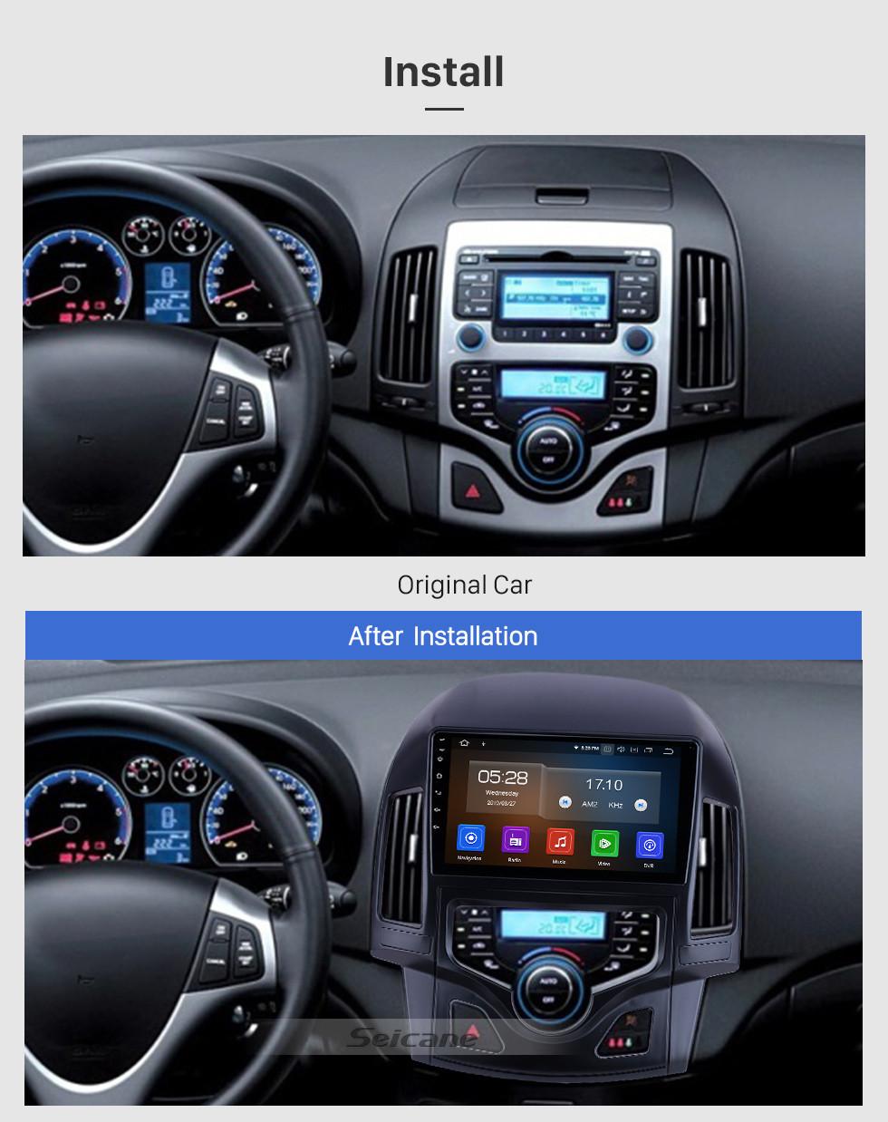 Seicane 9 дюймов Для 2008 2009 2010 2011 Hyundai i30 LHD Авто A / C Радио Android 9.0 GPS Навигационная система Bluetooth HD Сенсорный экран Поддержка Carplay OBD2