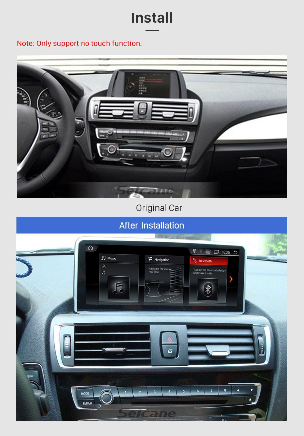 Seicane 8,8 polegadas Android 9.0 para BMW 1 Series F20 (2018-) EVO Radio Sistema de Navegação GPS com HD Touchscreen Suporte Bluetooth Carplay