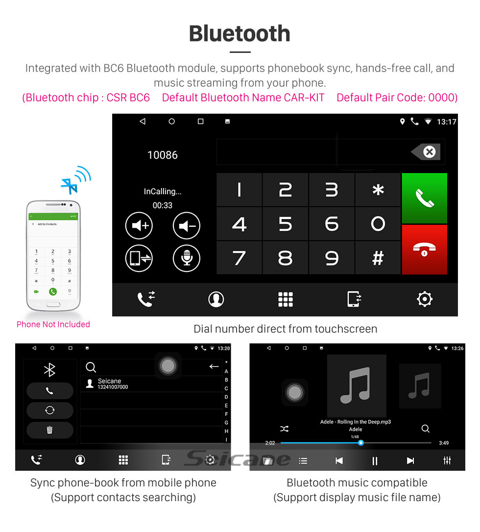 Seicane Android 10.0 9 inch for 2009 Hyundai Sonata Manual A/C Radio HD Touchscreen GPS Navigation System with Bluetooth support Carplay Rear camera