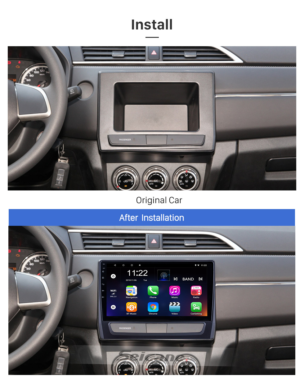 Seicane OEM 10.1 inch Android 10.0 for 2020 Mitsubishi ASX Radio Bluetooth HD Touchscreen GPS Navigation System support Carplay TPMS