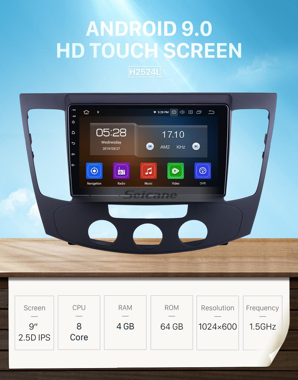 Seicane 9 inch For 2009 Hyundai Sonata Manual A/C Radio Android 9.0 GPS Navigation System Bluetooth HD Touchscreen Carplay support Digital TV