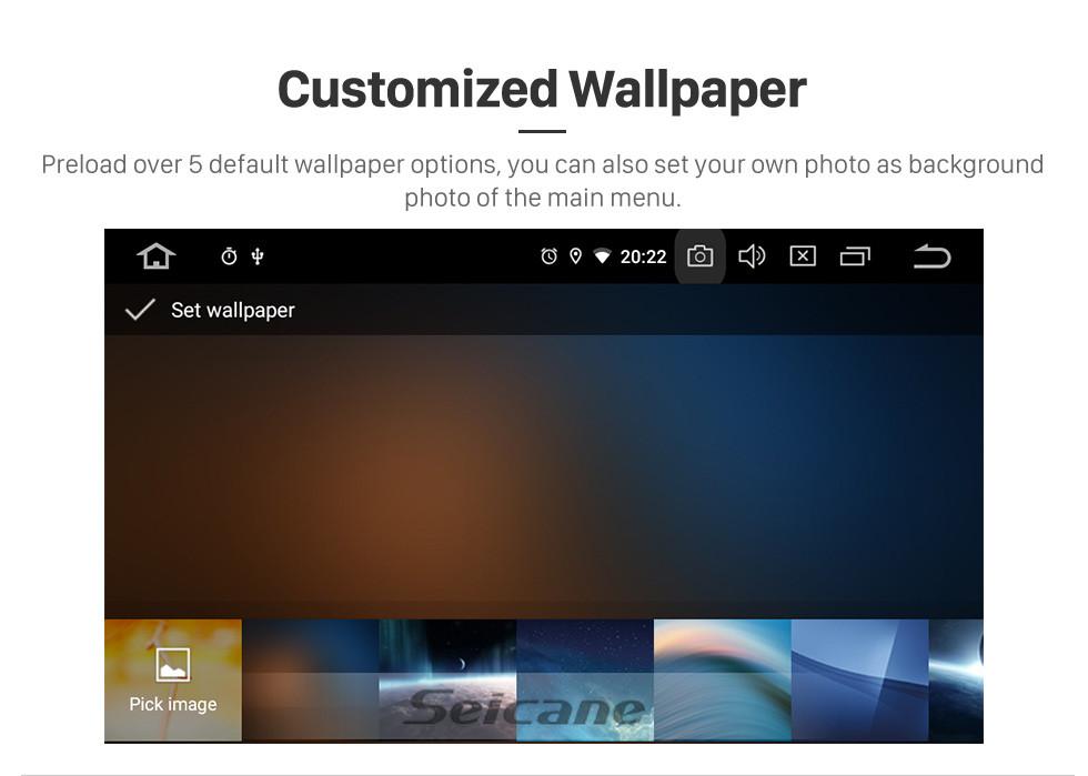 Seicane Android 9.0 для 2014 Baic Huansu Радио 9 дюймов GPS навигационная система Bluetooth HD с сенсорным экраном Поддержка Carplay Задняя камера