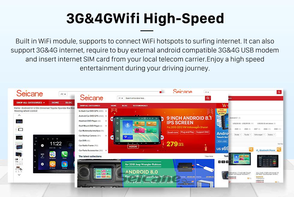 Seicane HD сенсорный экран для Baic Huansu Radio Android 9.0 9-дюймовый GPS-навигатор Bluetooth Carplay с поддержкой TPMS 1080P видео