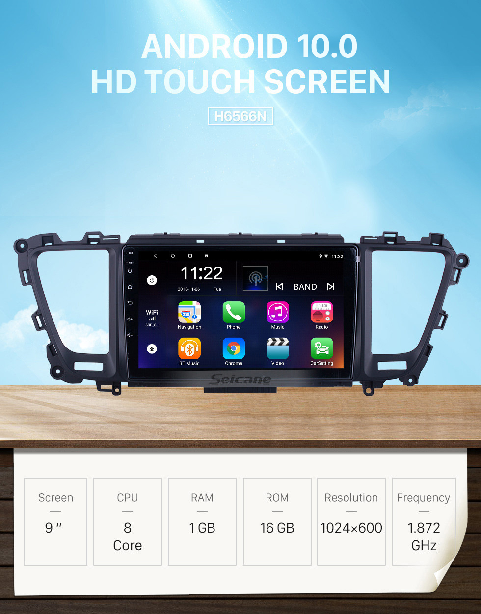 Seicane HD Touchscreen 9 inch for 2014 2015 2016-2019 Kia Carnival/Sedona Radio Android 10.0 GPS Navigation System with Bluetooth support Carplay