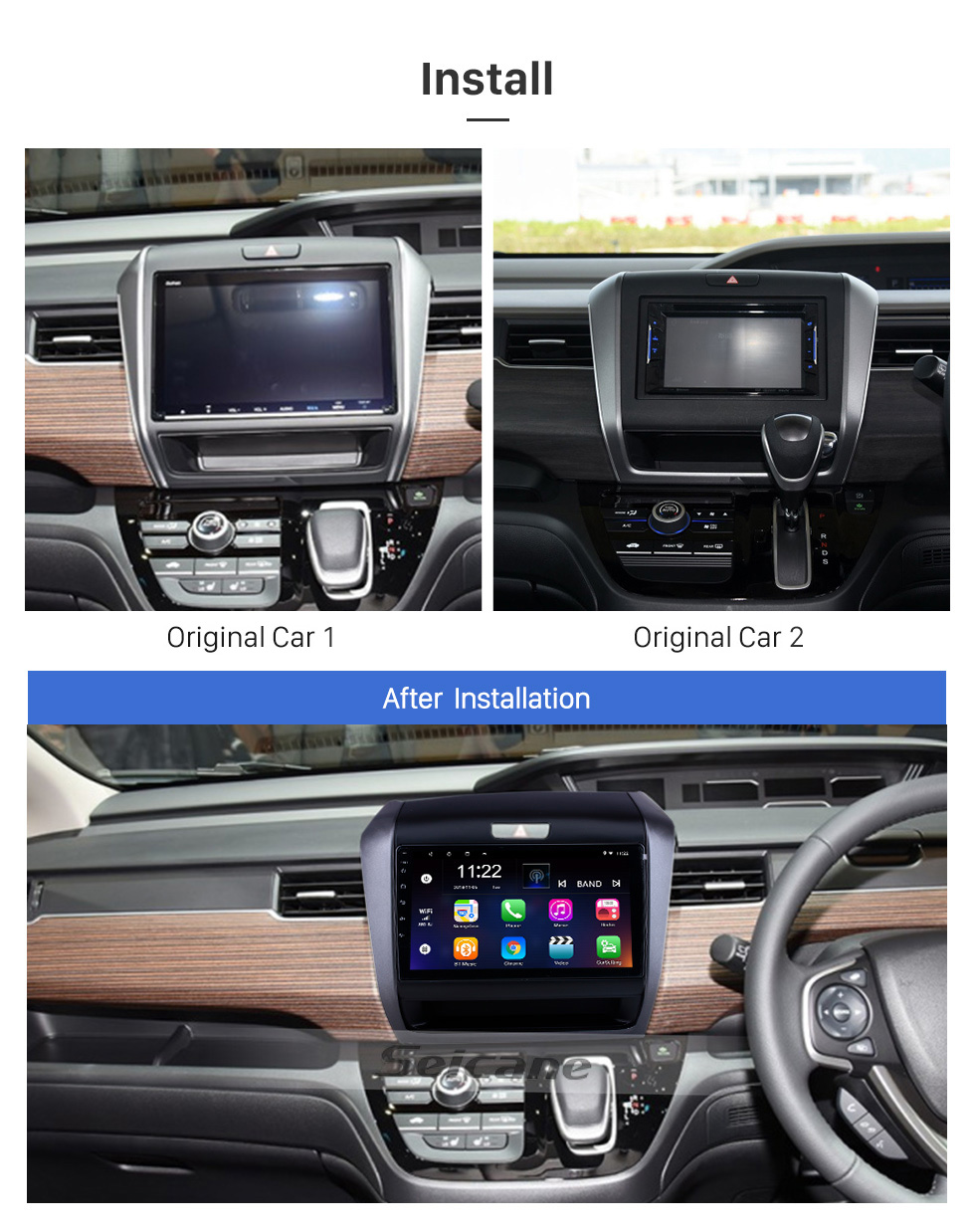 Seicane Android 10.0 9 inch for 2020 Honda Freed Hybrid RHD Radio HD Touchscreen GPS Navigation System with Bluetooth support Carplay DVR