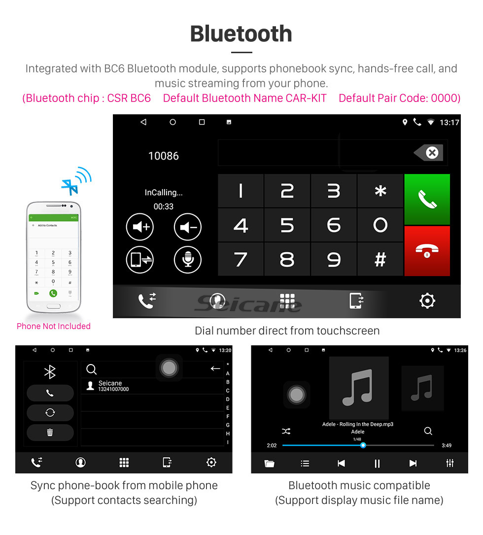 Seicane HD Touchscreen 10.1 inch for 2017 2018 Kia K2 Radio Android 10.0 GPS Navigation System with Bluetooth support Carplay Rear camera