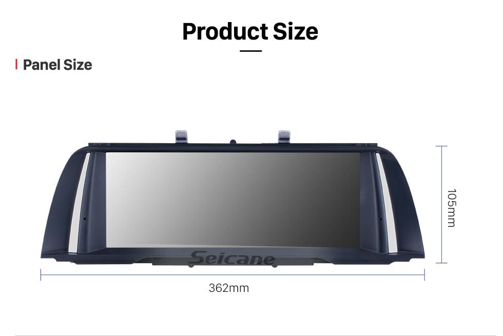Seicane 10,25 pouces HD écran tactile Android 9.0 2011 2012 BMW 5 Series F10 / F11 CIC autoradio stéréo tête GPS navigation GPS Bluetooth téléphone MP3 soutien volant commande WIFI caméra de recul