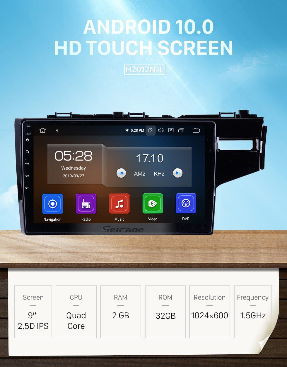 Seicane 9 Inch Android 10.0 GPS Navigation System Radio For 2014-2016 Honda Fit Support DVD Player Remote Control Bluetooth Touch Screen TV tuner