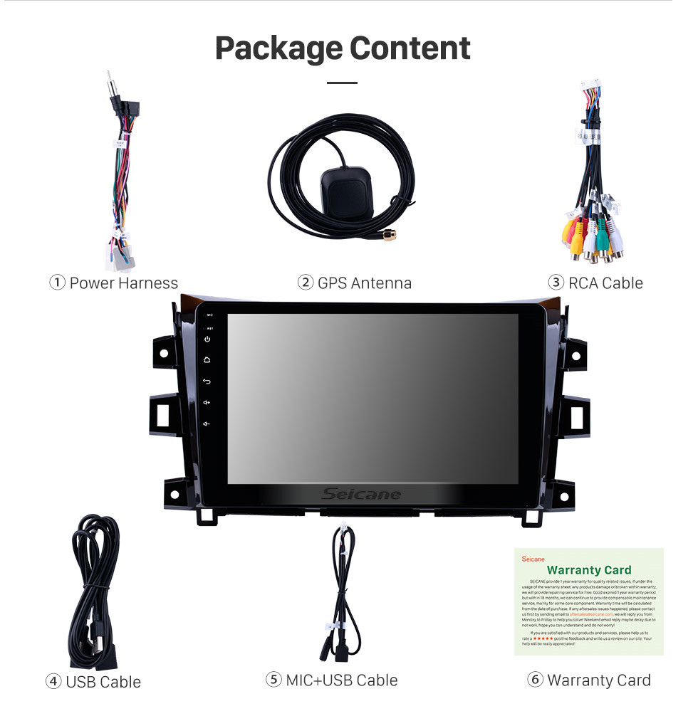 Seicane Android 10.0 for 2011-2016 NISSAN navara Radio GPS navigation system touchscreen head unit WIFI Bluetooth Rearview Camera