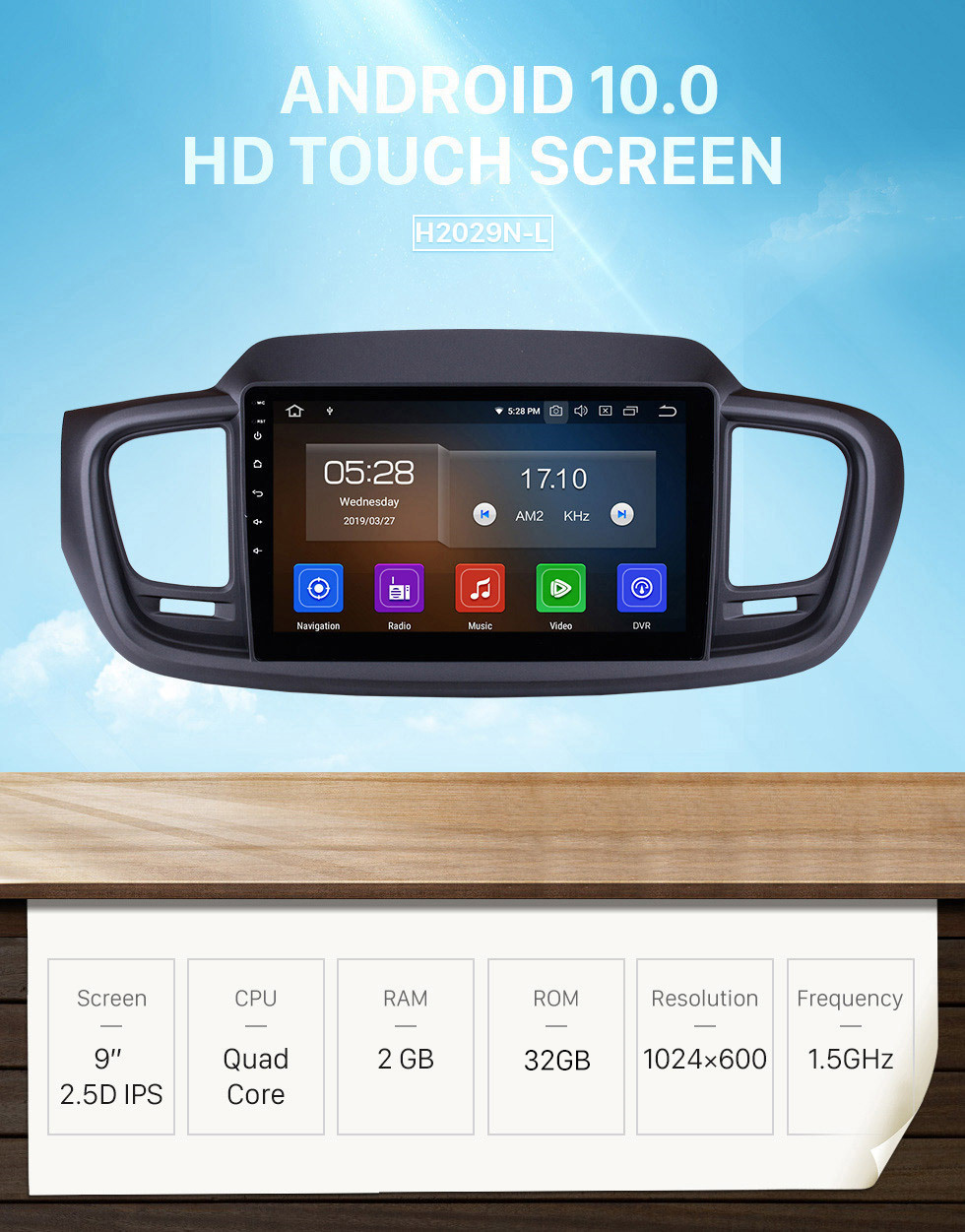 Seicane 9 inch For 2015 2016 Kia Sorento Android 10.0 Radio bluetooth GPS Navigation System with Backup Camera TPMS Steering Wheel Control Mirror link OBD2 DVR Rearview camera digital TV