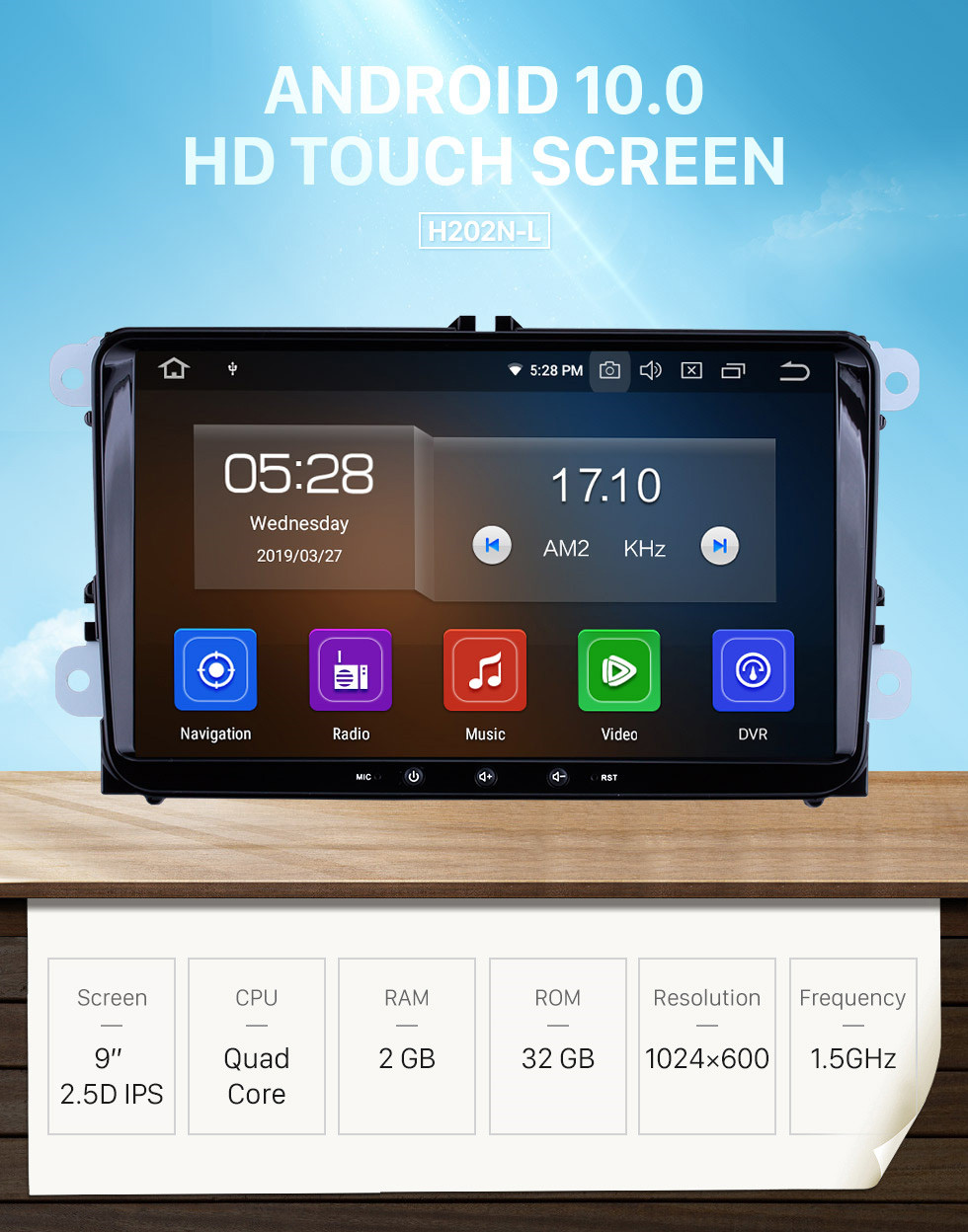 Seicane OEM Android 10.0 GPS Radio Audio System for 2010-2013 VW Volkswagen Sharan Support DVD Player 3G WiFi Mirror Link OBD2 DVR Bluetooth Rearview Camera touch Screen